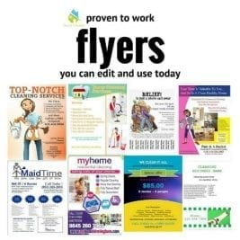 Flyers You Can Edit - Angela Brown, Savvy Cleaner