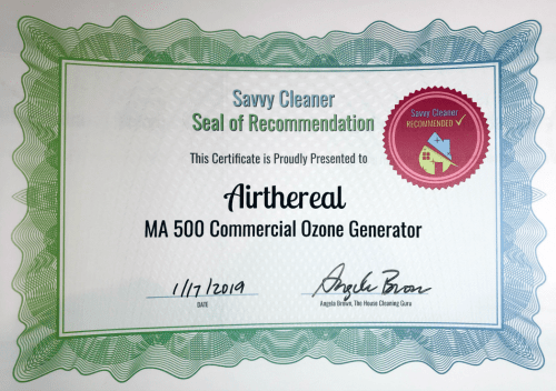 Airthereal Ma 500 Commmercial Ozone Generator, Savvy Cleaner Recommended
