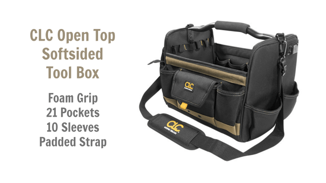 Angela Browns Top 10 Cleaning Caddies, CLC Open Top Softsided Tool Box
