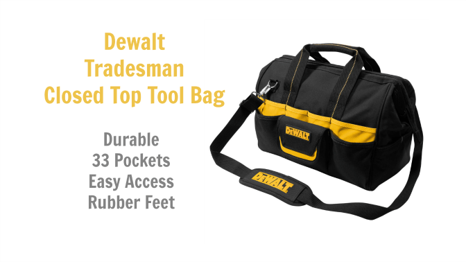 Angela Browns Top 10 Cleaning Caddies, Dewalt Tradesman Closed Top Tool Bag