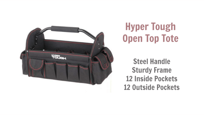 Angela Browns Top 10 Cleaning Caddies, Hyper Tough 16 inch Open-Top Tote