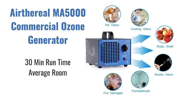 Angela Brown's Top 10 Odor Removal Machines Airthereal Ozone generator Back, Smell Removal