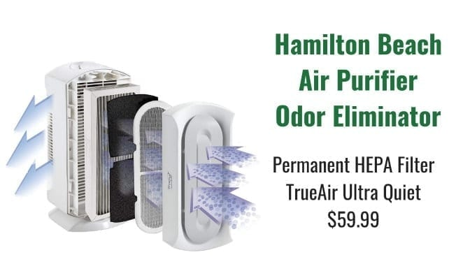 Angela Brown's Top 10 Odor Removal Machines Hamilton Beach Air Purifier White Filters Shown