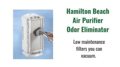 Angela Brown's Top 10 Odor Removal Machines Hamilton Beach Air Purifier White Filters you can vacuum
