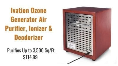 Angela Brown's Top 10 Odor Removal Machines Ivation Ozone Generator, Air Purifier Back