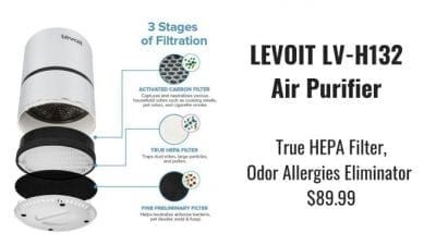 Angela Brown's Top 10 Odor Removal Machines Levoit HEPA Air Purifier Filtration Process