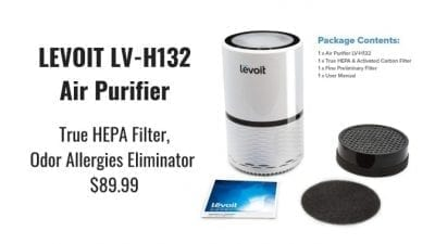 Angela Brown's Top 10 Odor Removal Machines Levoit HEPA Air Purifier Package Contents