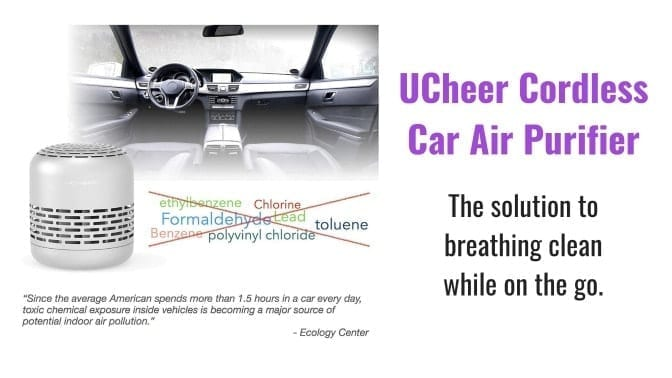Angela Brown's Top 10 Odor Removal Machines UCheer Cordless Car Air Purifier Car View