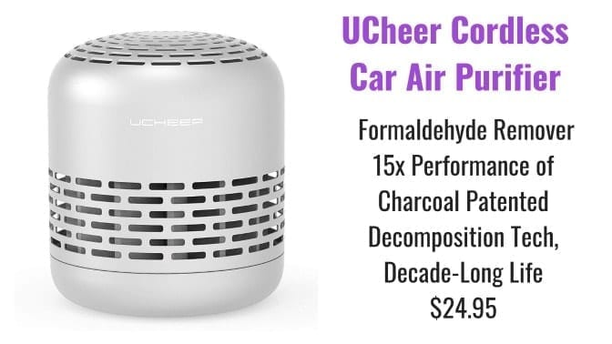 Angela Brown's Top 10 Odor Removal Machines UCheer Cordless Car Air Purifier Front