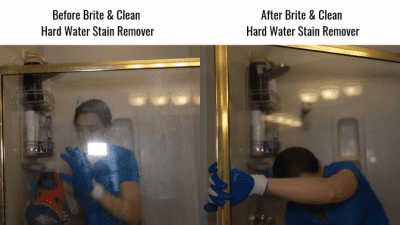 Before Brite & Clean Hard Water Stain Remover - Shower 1, Get Rid of Hard Water Stains