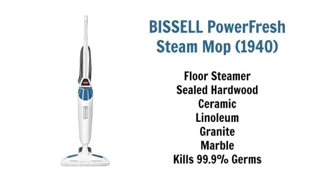 Bissell PowerFresh Steam Mop -1940 Chemical Free Cleaning, Angela Brown's Top 10 Mops
