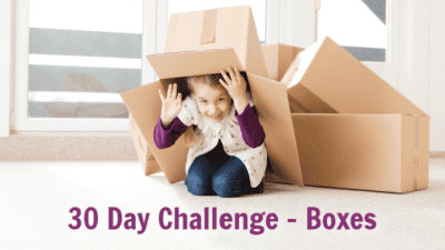 Box Free Challenge Little Girl Playing With Box 30 Day Challenge Boxes