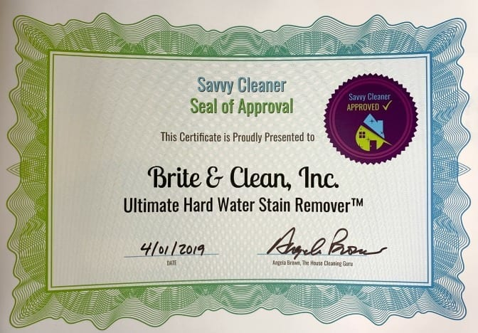 Brite and Clean Hard Water Stain Remover, Savvy Cleaner Approved x 672