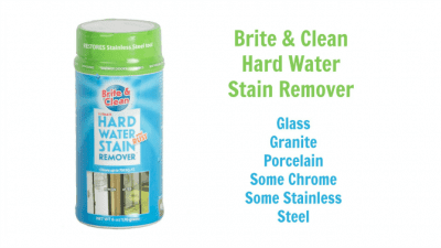 Brite and Clean Hard Water Stain Remover - Simple Cleaning Solution Ultimate Hard Water Stain Remover Get Rid of Hard Water Stains