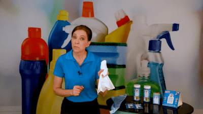 Brite and Clean Microfiber Cloth Get Rid of Hard Water Stains