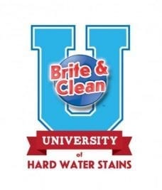 Brite and Clean University logo Hard Water Stain Remover Product Review