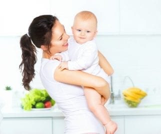 Can Young Kids Have Chores, Mother Holding Baby