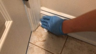 Clean the Floor Behind the Bathroom Door