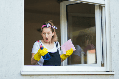Cleaning Bottle Secrets Revealed House Cleaner in Window