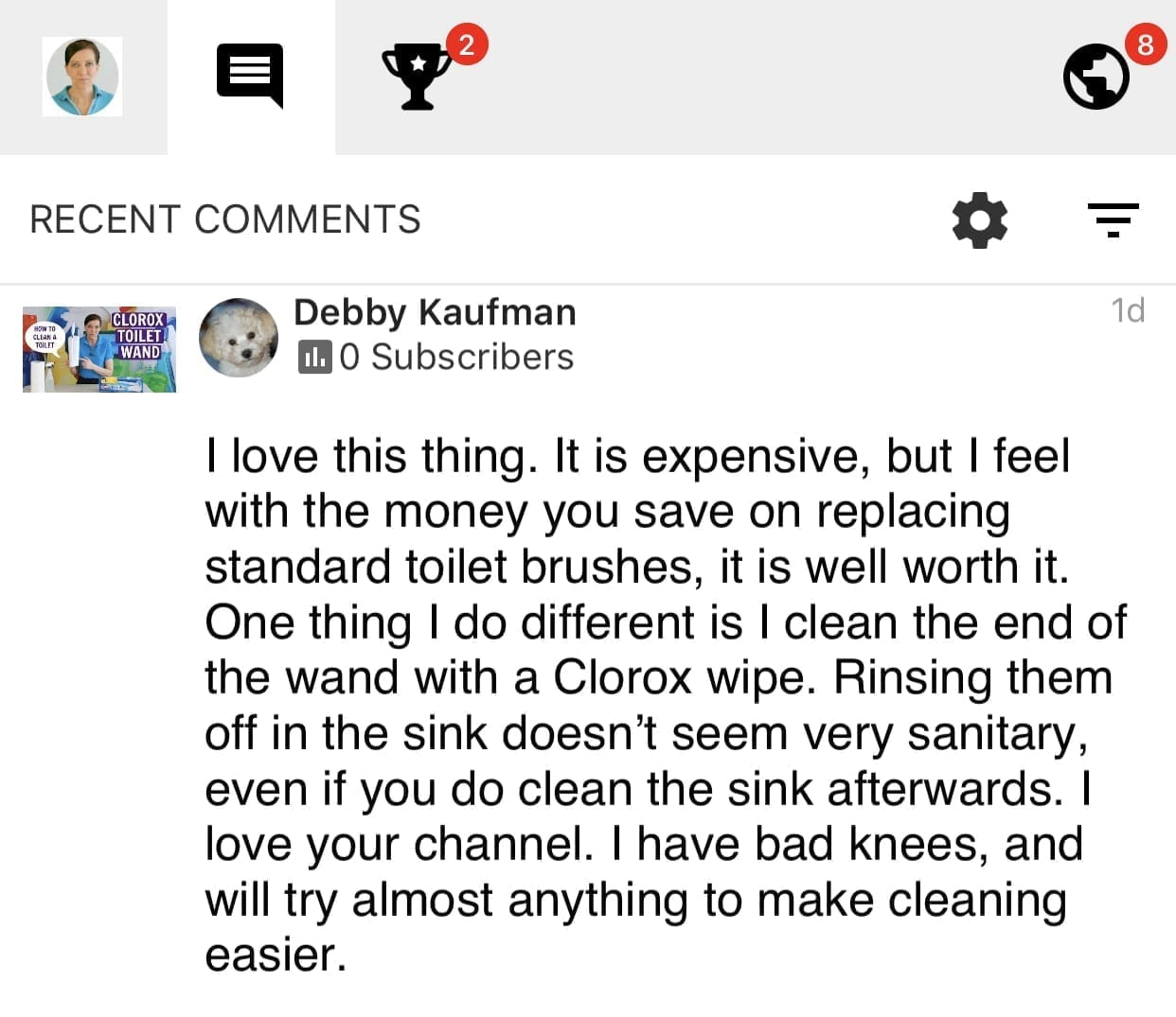 Clorox ToiletWand, I Love it, Savvy Cleaner Product Review Testimonial