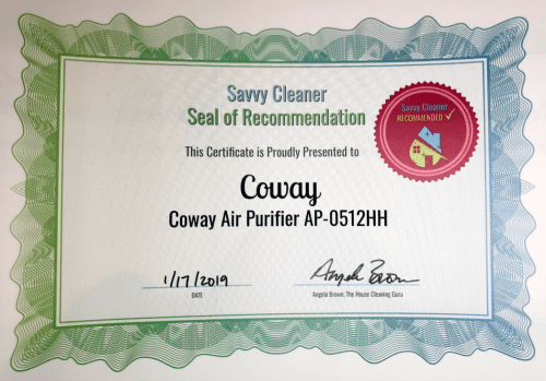 Coway, Coway Air Purifier AP-0512HH, Savvy Cleaner Recommended