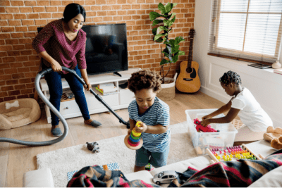 End Cleaning Procrastination, Family Cleaning Together