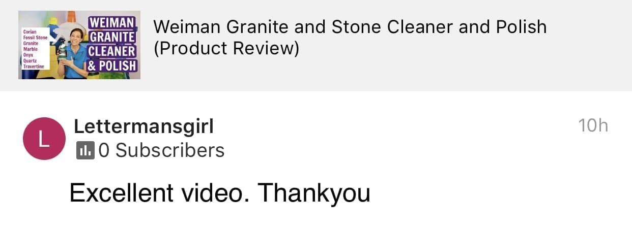Excellent Video, Thank You, Savvy Cleaner Product Review Testimonial