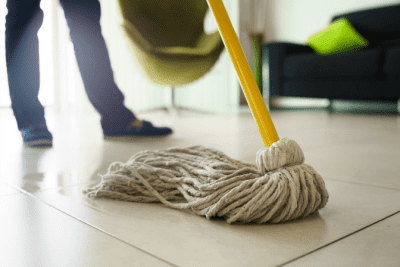 Favorite Mops for Cleaning Homes, Man with Mop Mopping Tile