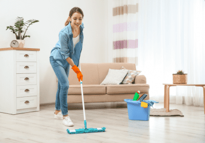 Favorite Mops for Cleaning Homes, Woman Mopping Floor