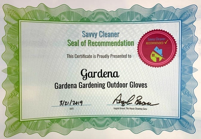 Gardena Gardening Outdoor Gloves, Savvy Cleaner Recommended