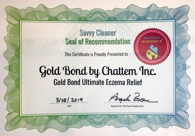 Gold Bond Ultimate Eczema Relief, Angela Brown's Top 10 Repair Creams, Savvy Cleaner Recommended