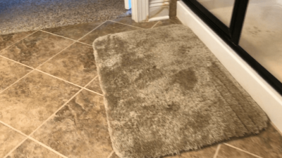 Greased Lightning Cleaner and Degreaser - remove bathmat first