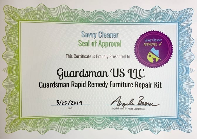Guardsman Furniture Repair Kit Product Review, Savvy Cleaner Approved