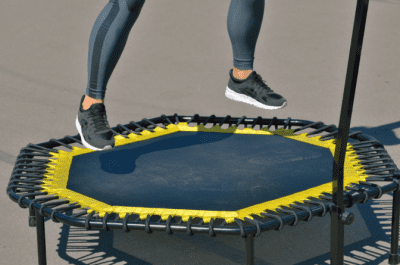 House Cleaner Health, Jumping on Trampoline