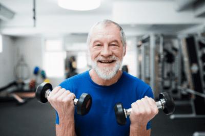 House Cleaner Health, Man Lifting Weights