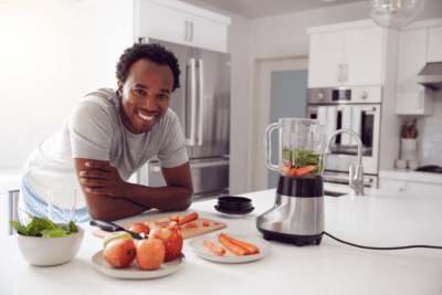 House Cleaner Health, Man Making Smoothies