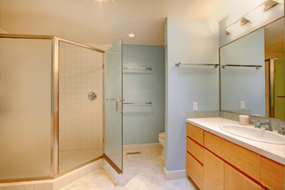 How to Clean Crevices and Sliding Door Tracks, Bathroom Shower with Glass Doors
