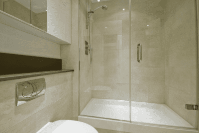 How to Clean Crevices and Sliding Door Tracks, Shower with Glass Doors