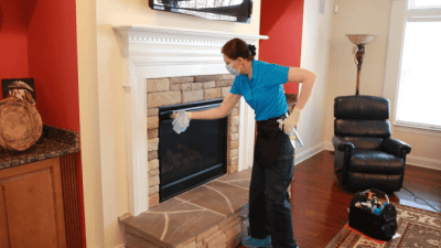 How to Clean a Gas Fireplace, Angela Brown Closing Fireplace Glass