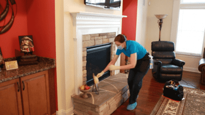 How to Clean a Gas Fireplace, Angela Brown Dusting Items