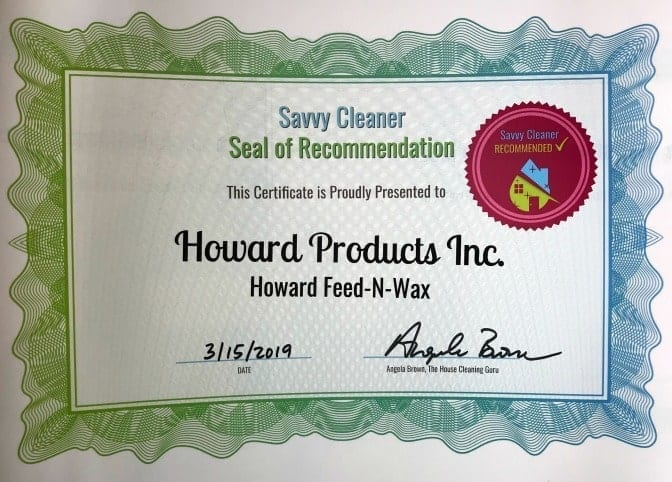 Howard Feed-N-Wax, Angela Brown's Top 10 Furniture Polish, Savvy Cleaner Recommended