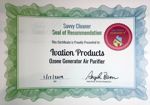 Ivation Products, Ozone Generator Air Purifier, Savvy Cleaner Recommended