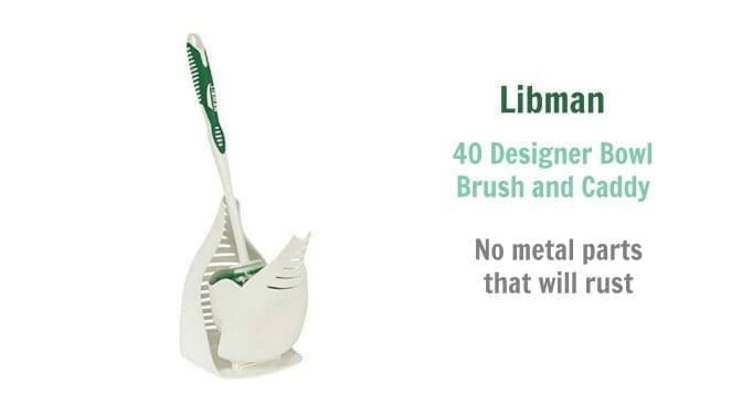 Libman Designer Bowl Brush and Caddy, No Metal Parts, Angela Brown's Top 10 Toilet Brushes