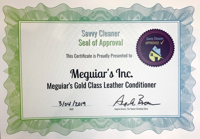 Meguiar's Gold Class Leather Conditioner Product Review, Savvy Cleaner Approved x 672