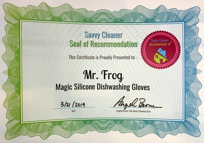 Mr Frog Magic Silicone Dishwashing Gloves, Savvy Cleaner Recommended