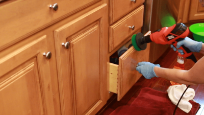 Murphy Oil Soap Wood Cleaner, Angela Brown Using Drill Brush on Kitchen Cabinets Drawers