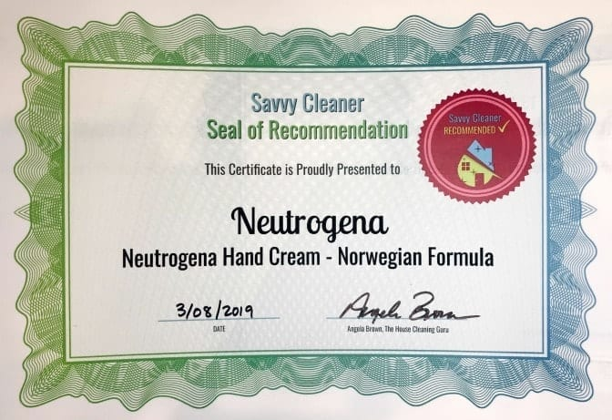 Neutrogena Hand Cream, Angela Brown's Top 10 Repair Creams, Savvy Cleaner Recommended
