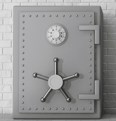 Password Vault for House Cleaners, Metal Safe