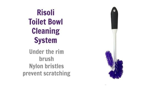 Risoli Toilet Bowl Cleaning System, Nyllon bristles prevent scratching, Angela Brown's Top 10 Toilet Brushes