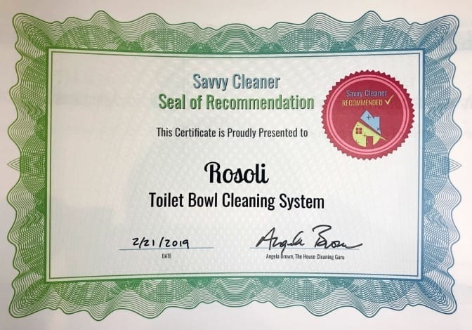 Rosoli Toilet Bowl Cleaning System, Savvy Cleaner Recommended
